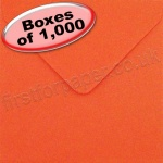 Spectrum Greetings Card Envelope, 130 x 130mm, Poppy Red - 1,000 Envelopes
