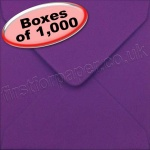 Spectrum Greetings Card Envelope, 130 x 130mm, Purple - 1,000 Envelopes