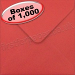 Spectrum Greetings Card Envelope, 130 x 130mm, Scarlet Red - 1,000 Envelopes