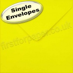 Spectrum Greetings Card Envelope, 155 x 155mm, Daffodil Yellow