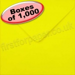 Spectrum Greetings Card Envelope, 155 x 155mm, Daffodil Yellow - 1,000 Envelopes
