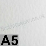 Enstone, One Sided Hammer Embossed, 115gsm, A5, Bright White