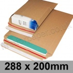 EzePack, Rigid corrugated cardboard envelope, 288 x 200mm - Pack of 20