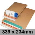 EzePack, Rigid corrugated cardboard envelope, 339 x 234mm - Pack of 20