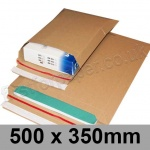 EzePack, Rigid corrugated cardboard envelope, 500 x 350mm - Pack of 20
