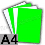 Fluorescent Card, 255gsm, A4, Green - 38 sheets