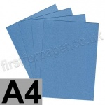 Galaxia Pearlescent, Single Sided, 310gsm, A4, Blue - 10 Sheets
