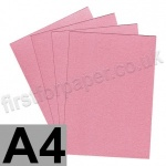 Galaxia Pearlescent, Single Sided, 310gsm, A4, Pink - 10 Sheets