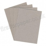 Greyboard Offcuts, 750mic, Size approx A5 - 40 sheets