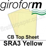 Giroform Carbonless NCR, CB60, Top Sheet, SRA3, 60gsm Yellow - 500 Sheets