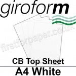 Giroform Carbonless NCR, CB80, Top Sheet, A4, 80gsm White - 500 Sheets