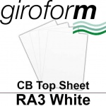 Giroform Carbonless NCR, CB80, Top Sheet, RA3, 80gsm White - 500 Sheets