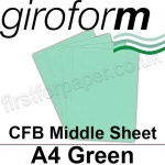 Giroform Carbonless NCR, CFB86, Middle Sheet, A4, 86gsm Green - 500 Sheets