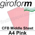 Giroform Carbonless NCR, CFB86, Middle Sheet, A4, 86gsm Pink - 500 Sheets