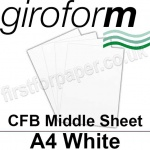 Giroform Carbonless NCR, CFB86, Middle Sheet, A4, 86gsm White - 500 Sheets