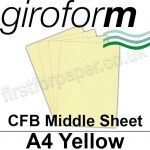 Giroform Carbonless NCR, CFB86, Middle Sheet, A4, 86gsm Yellow - 500 Sheets