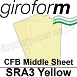 Giroform Carbonless NCR, CFB86, Middle Sheet, SRA3, 86gsm Yellow - 500 Sheets