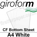 Giroform Carbonless NCR, CF80, Bottom Sheet, A4, 80gsm White - 500 Sheets