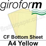 Giroform Carbonless NCR, CF80, Bottom Sheet, A4, 80gsm Yellow - 500 Sheets