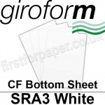 Giroform Carbonless NCR, CF80, Bottom Sheet, SRA3, 80gsm White - 500 Sheets
