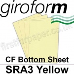 Giroform Carbonless NCR, CF80, Bottom Sheet, SRA3, 80gsm Yellow - 500 Sheets
