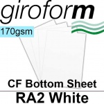 Giroform Carbonless NCR, CF170, Bottom Sheet, RA2, 170gsm White - 250 Sheets