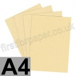 Harrier Speckled Card, 240gsm, A4, Cream - 40 Sheets