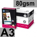 HP Printing Paper, 80gsm, A3 - 2,500 sheets