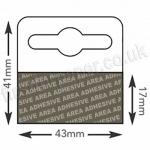Rigid, Mediumweight Self Adhesive Euro Slot Hangers (Hang Tabs