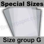 Krystal, White Translucent 100gsm, Special Sizes, (Size Group G)
