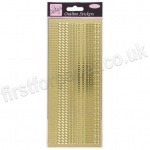 Anita's Peel Off Outline Stickers, Assorted Boarders - Gold