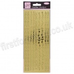 Anita's Peel Off Outline Stickers, Floral Boarders - Gold