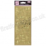 Anita's Peel Off Outline Stickers, Butterfly - Gold