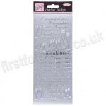 Anita's Peel Off Outline Stickers, Congratulations - Silver