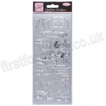 Anita's Peel Off Outline Stickers, Car Collection - Silver