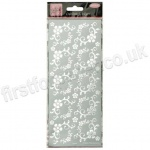 Anita's Peel Off Outline Stickers, Fanciful Floral Corners - Silver