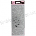 Anita's Peel Off Outline Stickers, Couples - Silver