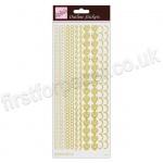 Anita's Peel Off Outline Stickers, Boarder - Gold on White