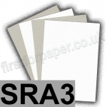 Optimum, Grey Backed White Lined Chipboard, 400gsm, SRA3