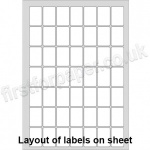 PCL Labels, Permanent Adhesive, White, 25 x 38mm - 200 sheets per box