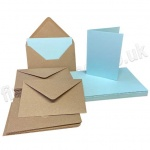 Pegasi, Light Blue A6 Card Blanks and Kraft Envelopes