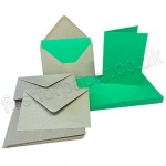 Pegasi, Deep Green A6 Card Blanks and Kraft Envelopes