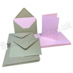 Pegasi, Pink A6 Card Blanks and Kraft Envelopes