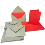 Pegasi, Red A6 Card Blanks and Kraft Envelopes