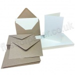 Pegasi, Smooth White A6 Card Blanks and Kraft Envelopes