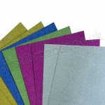 Assorted Glitter Card, 8 Assorted Sheets
