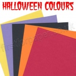 Pegasi, Halloween Themed Coloured Card, 20 Large sheets
