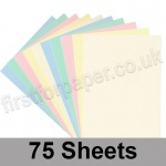 Craft & Hobby, Thin Card Pack, Pastel Shades, 75 A4 sheets