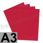 Rapid Colour Paper, 120gsm, A3, Blood Red