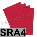 Rapid Colour Paper, 120gsm, SRA4, Blood Red
